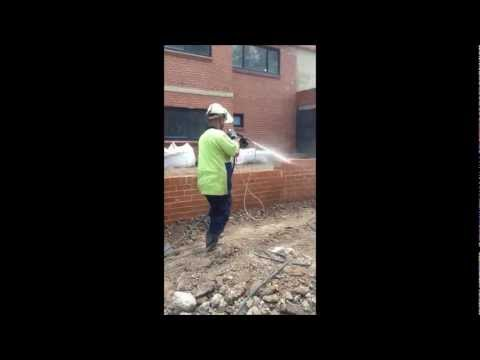 Brick cleaning - acid wash . Sydney Australia