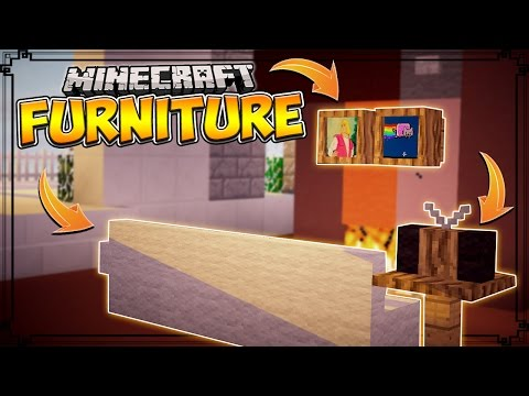 Minecraft Mods | FURNITURE MOD - TVs, Computers, Sofas, Tables and MORE! (Minecraft Mod Showcase)