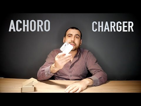 DUAL USB wall charger with iphone cable storage by ACHORO