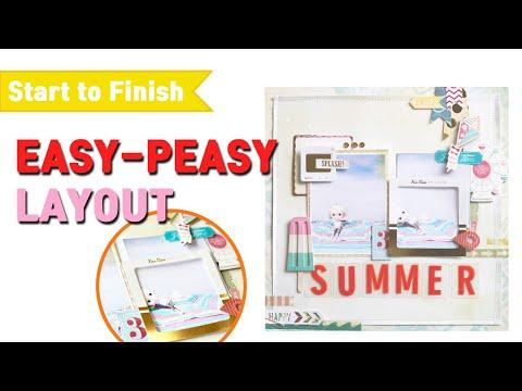 Scrapbooking Tutorial ☆ easy-peasy layout