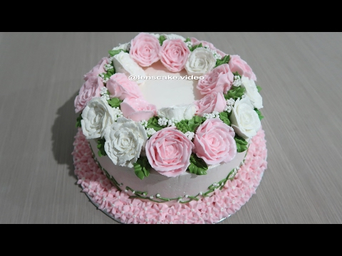 Birthday Cake with Flowers Roses How to Make