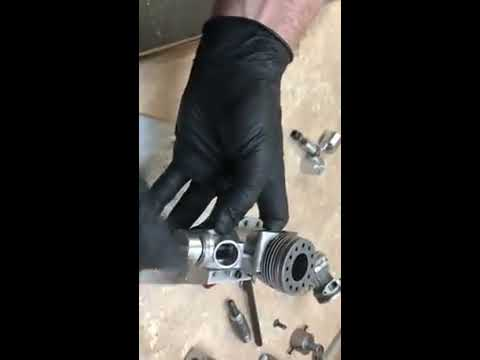 How to change RC Airplane engine bearings without heating case.