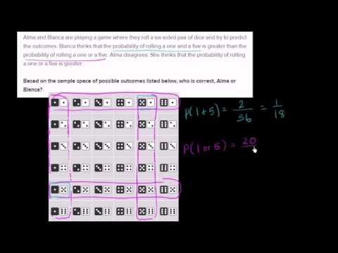 12 Analyzing sample space for roll of dice   YouTube2