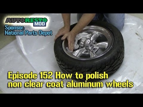 How to polish non clear coat classic car aluminum wheels Meguiars Episode 152 Autorestomod