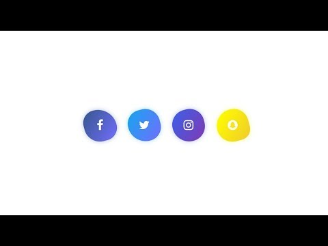 Creative Shapes Social Media Icon Without Image & Cool Hover Effects
