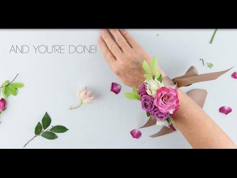 EASY DIY Wrist Corsage by Flower Moxie   ~SUPER FAST TUTORIAL~
