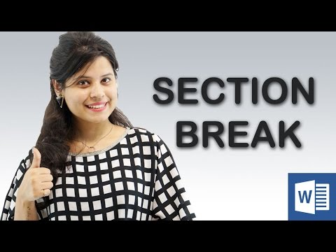 How to use Section Break in Microsoft Word || Chapter 5 | Video 1