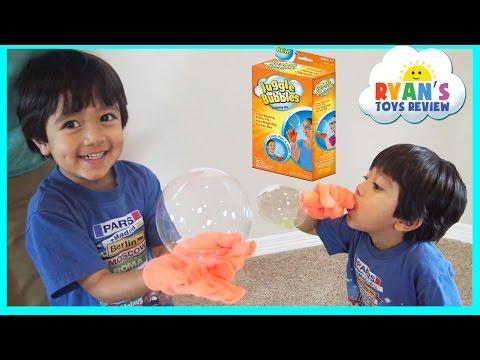 Ryan plays JUGGLE BUBBLES Magic No Pop Bubbles