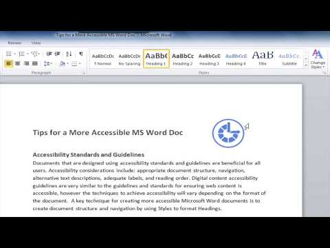Accessible Microsoft Word Document