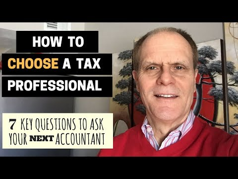 How to Choose a Tax Professional