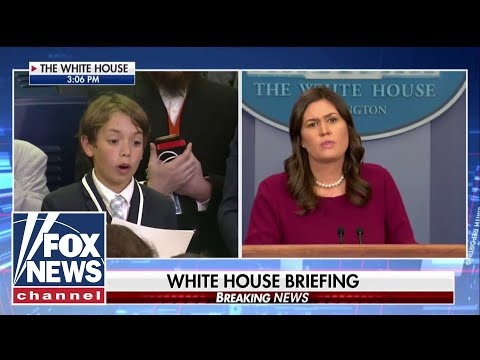 Young boy asks Sarah Sanders about school shootings
