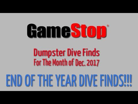 GameStop Dumpster Dive Dec. 2017 - Finds for the month