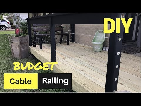 CHEAP & EASY DIY Cable Deck Railing