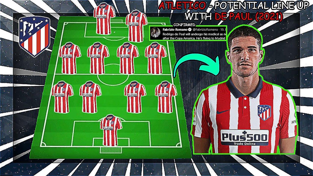ATLETICO MADRID - Potential Line Up With Rodrigo De Paul (2021)
