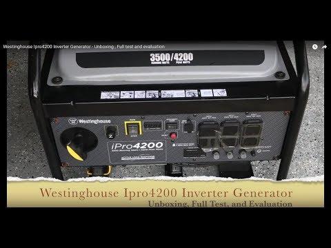 Westinghouse Ipro4200 Inverter Generator - Unboxing , Full test and review