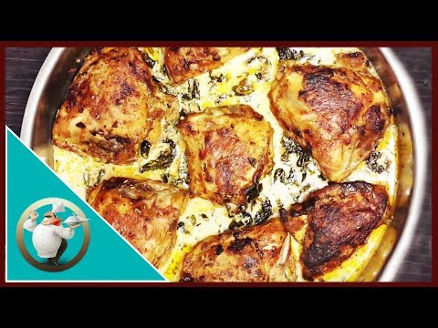 How to make Lemon Butter Chicken Thighs | Creamy Lemon Butter Chicken And Spinach Recipe