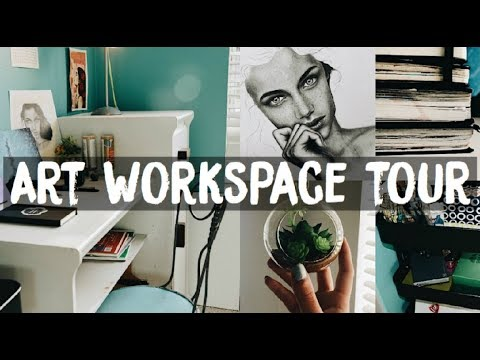 Art Workspace Tour 2017 | Amaya Jade