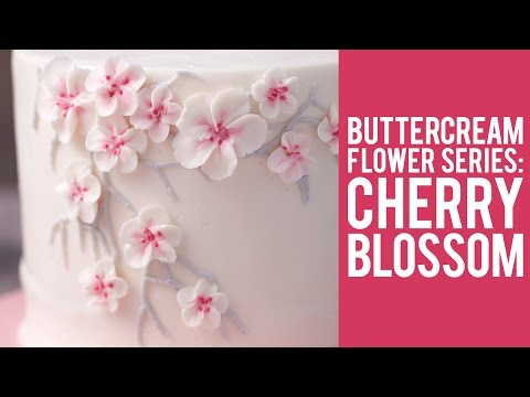 How to Make Buttercream Cherry Blossom Flowers