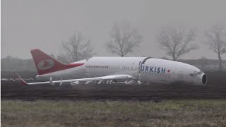Animation - Turkish Airlines crashed during approach, Boeing 737-800 - Dutch Safety Board
