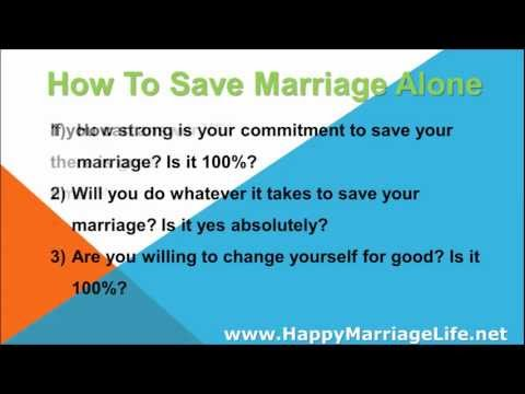 How To Save Marriage Alone - How Long Does It Take?