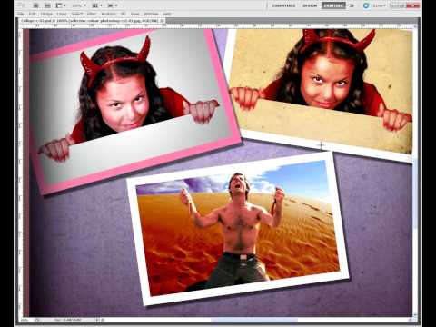 Create a Collage in Photoshop CS5 - Pixovert Tutorial - Introduction