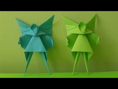 Origami Angel - Christmas Tree Decoration (How to make)
