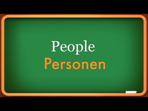 Lesson 1- People - Personen - Learn German Language - easy german - free learnen