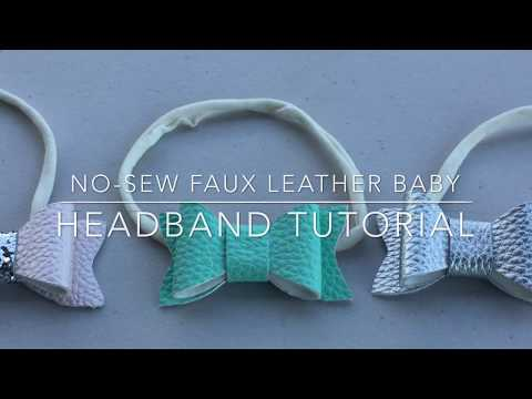 No-Sew Faux Leather Baby Headband Tutorial