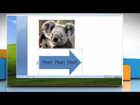 Microsoft® Word 2007: How to create a flow chart with pictures in Windows® XP?