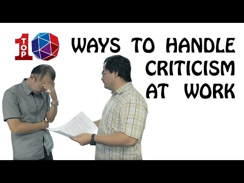 Top 10 Ways to Handle Criticism at Work