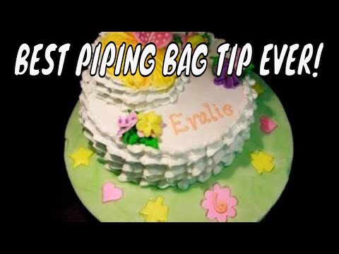 Cake decorating techniques to fill a piping bag or cake decorating bag