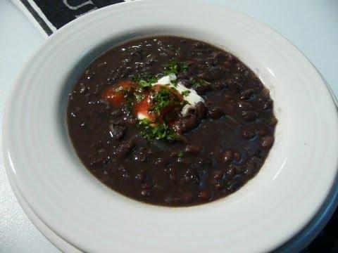 BLACK BEAN SOUP - How to make BLACK BEAN SOUP Recipe