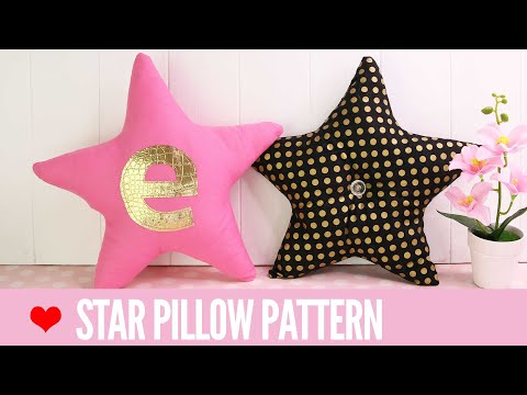 DIY Star Pillow| Start Pillow Pattern