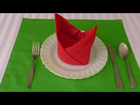 Napkin Folding - The Crown
