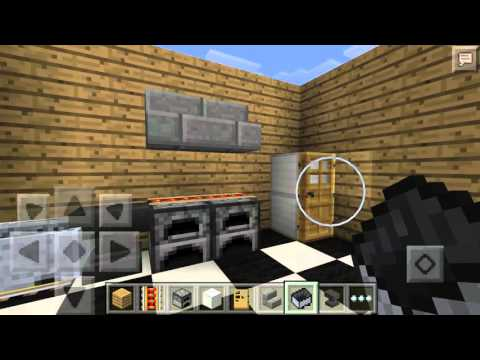 How to build a kitchen in minecraft pe