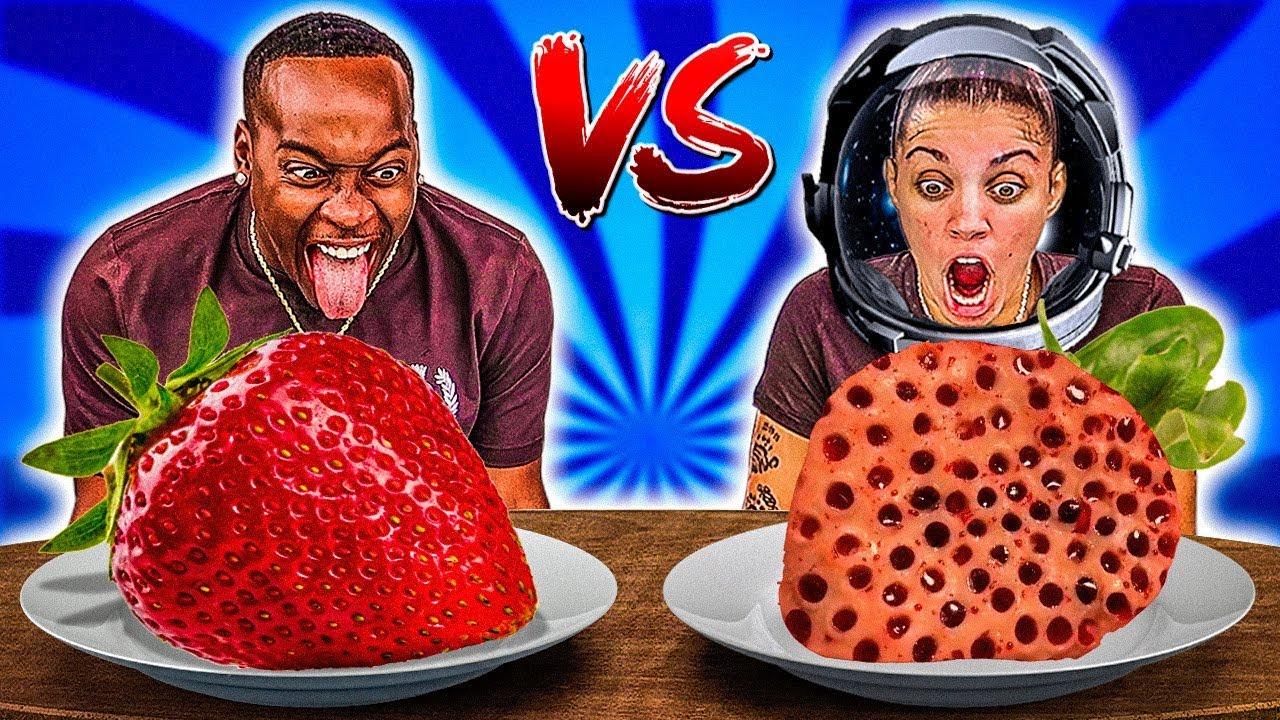 ASTRONAUT VS REAL FOOD CHALLENGE