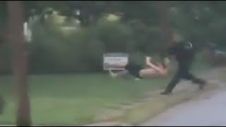 Cop Lays The Hammer On Fleeing Suspect, Possibly The Greatest Clothesline Of All Time