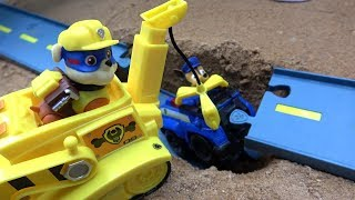 Download Paw Patrol Vehicles Rubble rescue Chase fun Toys Video