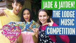 DISNEY CHANNEL VLOG with guest stars JADE & JAYDEN! | THE LODGE MUSIC COMPETITION