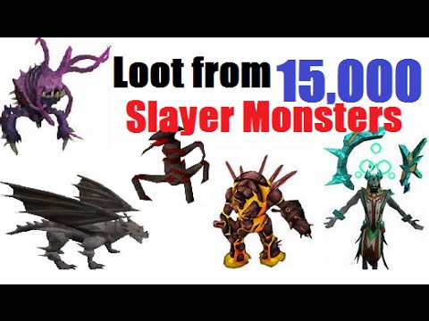 Runescape-Loot From 15,000 Slayer Monsters