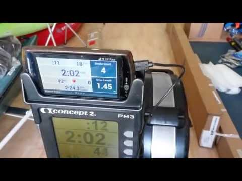 Mobile connected to Concept2 erg