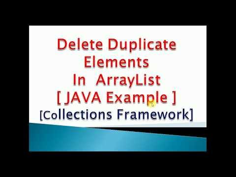 How to Delete Duplicate elements in ArrayList in JAVA : Program Code