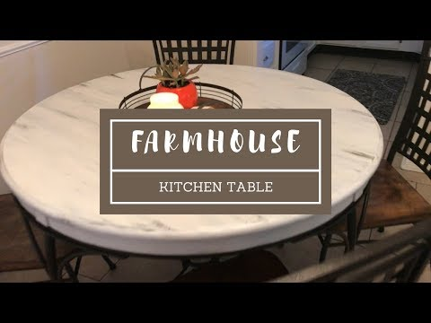 DIY - Distressed Farmhouse Kitchen Table