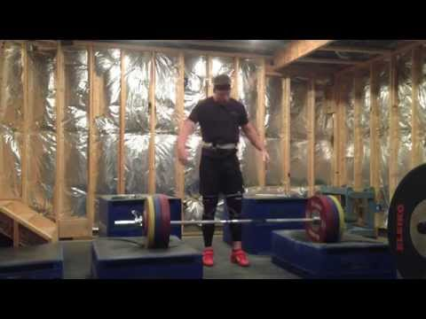 150kg x 2 Clean and Jerk from Blocks