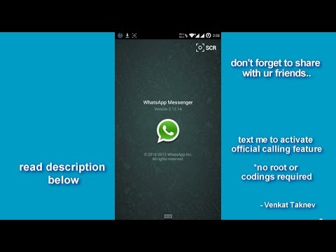 Enable/Activate whatsapp voice calling feature 2015 Official
