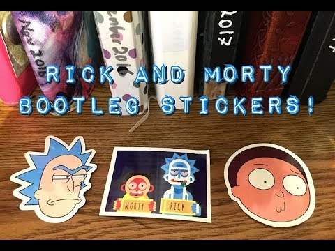 30+ Rick and Morty Stickers [Unboxing!]