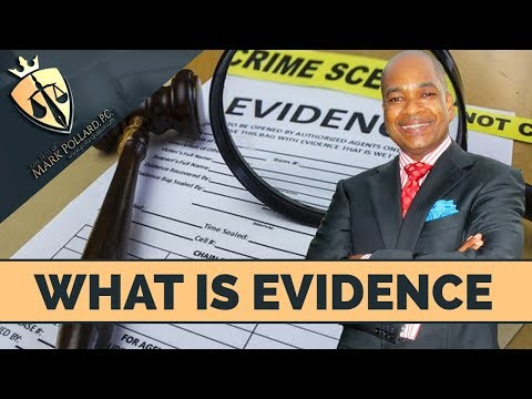 Evidence In A Criminal Case