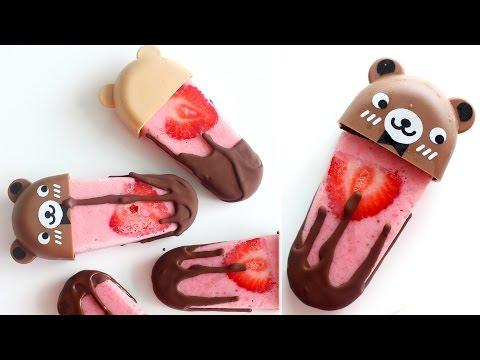 Chocolate Strawberry Popsicles | RECIPE
