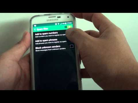 Samsung Galaxy S5: How to Block Phone Number Sending You SMS Text Messages With Criteria Matching