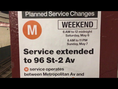 EXCLUSIVE: On-Board a 96th St bound R160A-1 (M) Train from 42nd St-Bryant Park to 96th St-2nd Ave